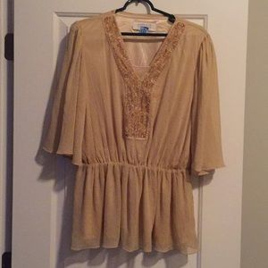 Gold American Glamour, Badley Mischka SZ M Blouse